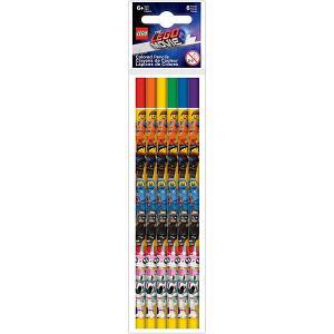 Набор цветных карандашей  Movie 2, 6 шт LEGO. Цвет: разноцветный