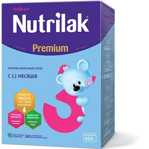 Молочный напиток  Premium 3, с 12 мес, 600 г Nutrilak