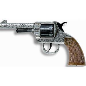 Пистолет  Oregon Metall Western, 21,5 см Edison. Цвет: серый