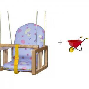 Качели  подвесные и тележка садовая детская Совтехстром Гном