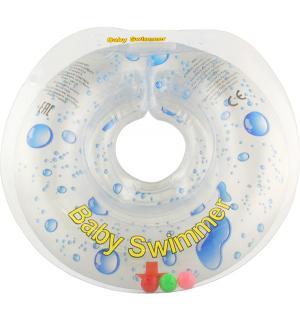 Круг  полноцветный + внутри погремушка, цвет: прозрачный Baby Swimmer