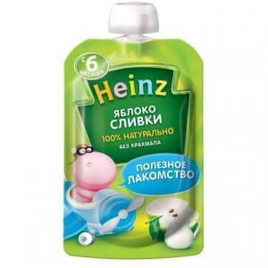 Пюре  яблоко-сливки с 6 месяцев, 90 г Heinz