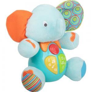 Интерактивная мягкая игрушка  Слон цвет: голубой/оранжевый Winfun