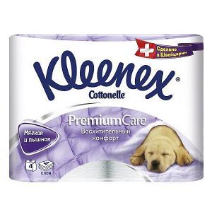 Туалетная бумага  Premium Care 4 слоя, шт Kleenex. Цвет: разноцветный