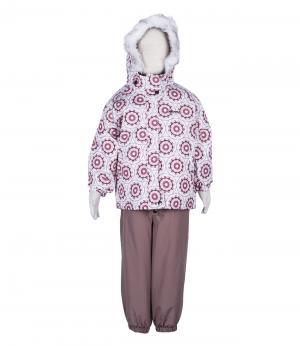 Костюм зимний для девочки (розовые круги) Rasavil. Цвет: розовый