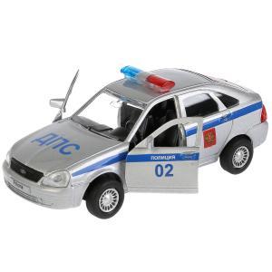 , Машина Lada Priora хэтчбек полиция, 12см Технопарк