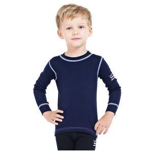 Футболка с длинным рукавом  для мальчика Norveg. Цвет: синий