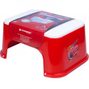 Подставка-табурет  Disney Тачки, цвет: красный Полимербыт