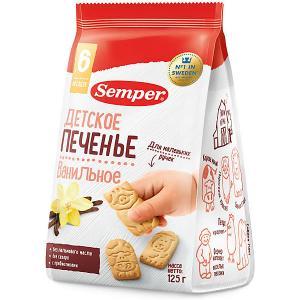 Детское печенье  NaturBalance ванильное, с 6 мес Semper