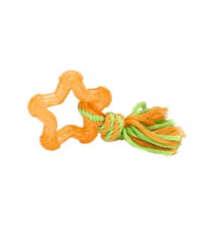 Игрушка для собак  Звезда, цвет: оранжевый, 8см Beeztees