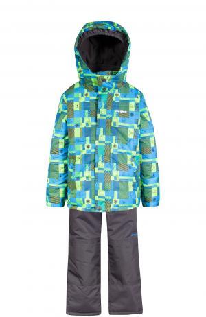 Комплект куртка/полукомбинезон , цвет: зеленый/синий Zingaro By Gusti