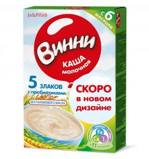 Каша  молочная 5 злаков с 6 месяцев 200 г 1 шт Винни