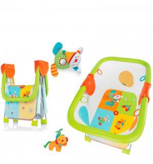 Манеж  Soft & Play Mondocirco, цвет: зеленый/оранжевый/голубой/желтый Brevi