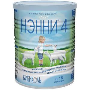 Молочный напиток на основе козьего молока  4, с 18 мес, 400 г Нэнни