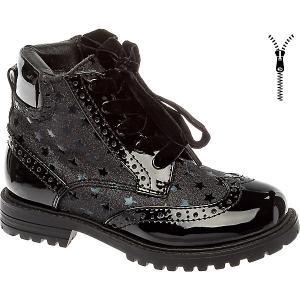 Ботинки BETSY Princess для девочки. Цвет: черный