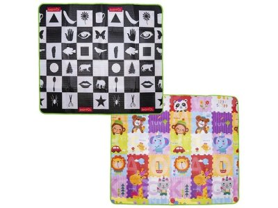 Игровой коврик  По доману и Цветные лоскуты 180х150х0.5 см BabyPol