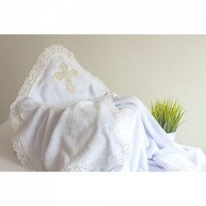 Махровое полотенце для Крещения 90х90 см Pituso