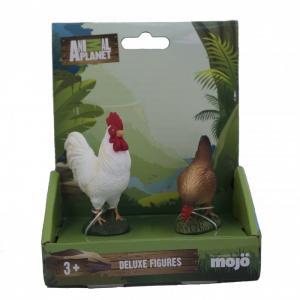 Набор фигурок Animal Planet Петух S и Курица Mojo