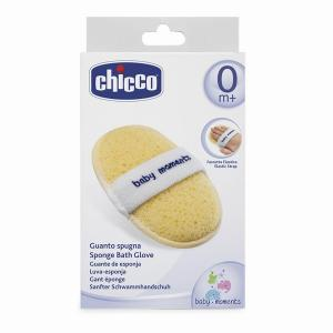 Мочалка  Губка-перчатка для купания 0+ Chicco