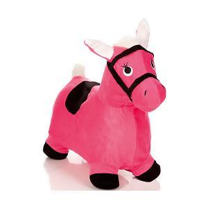 Лошадка-попрыгунчик , розовая Shantou Gepai. Цвет: розовый