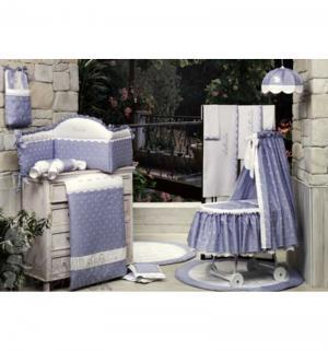 Комплект постельного белья  Нежность, цвет: фиолетовый 6 предметов BabyPiu