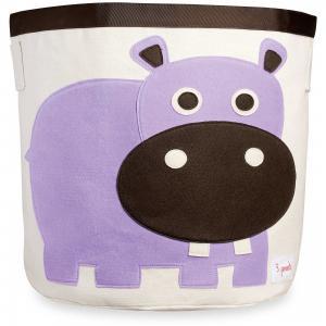 Корзина для хранения Бегемотик (Purple Hippo), 3 Sprouts. Цвет: фиолетовый