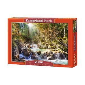 Пазл  Лесной ручей, 2000 деталей Castorland