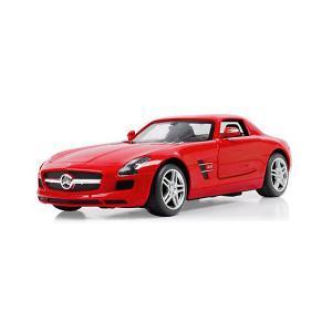 Радиоуправляемая машина  Mercedes SLS AMG 1:24, красная Rastar. Цвет: красный