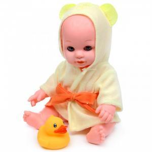 Кукла-Пупс в жёлтом халатике с аксессуарами и звуками 30 см Lisa Jane