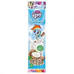Драже  со вкусом шоколада и кокоса в соломинке для молока, 30 г My Little Pony