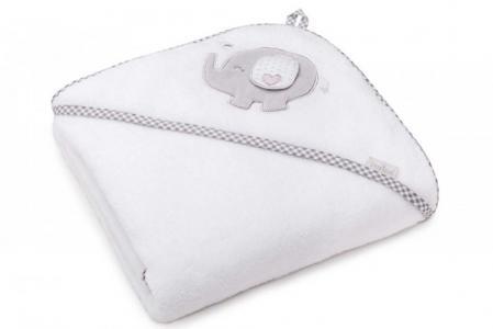 Полотенце Слоник с капюшоном 95х95 см (в упаковке) Perina
