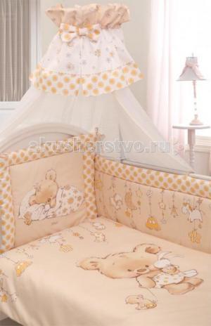 Комплект в кроватку  Mika сатин (7 предметов) Золотой Гусь