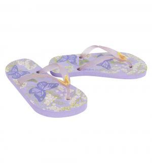 Шлепанцы , цвет: фиолетовый Dupe