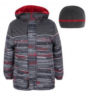 Куртка куртка/шапка , цвет: серый/красный iXTREME by Broadway kids