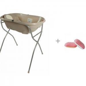 Подставка для ванночек Onda & evolution и мочалка Uviton купания Утенок 0008/03 Ok Baby