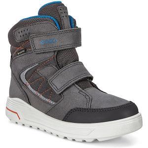 Утеплённые ботинки ECCO. Цвет: серый
