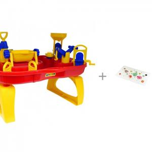 Стол-бассейн Водный мир и коврик для купания Happy Baby Sea Life Wader