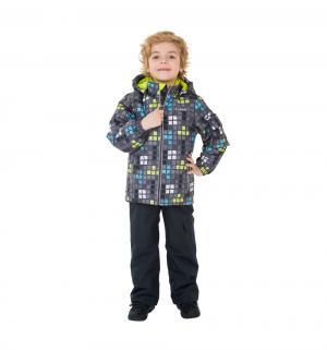 Комплект куртка/полукомбинезон  Лонг Дарк, цвет: серый/салатовый Premont