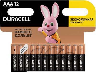 Батарейка алкалиновая Basic AAA (LR03) 12 шт. Duracell