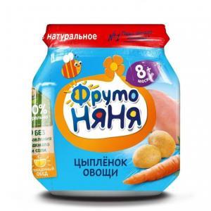 Пюре  цыпленок-курица-морква-картофель с 8 месяцев, 100 г ФрутоНяня