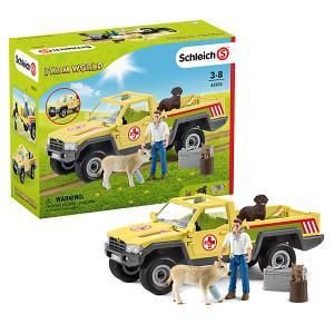 Игровой набор  Визит ветеринара на ферму Schleich. Цвет: разноцветный