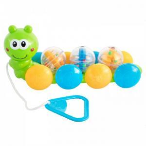 Каталка-игрушка  Гусеница с шариками 75065 Bebelino