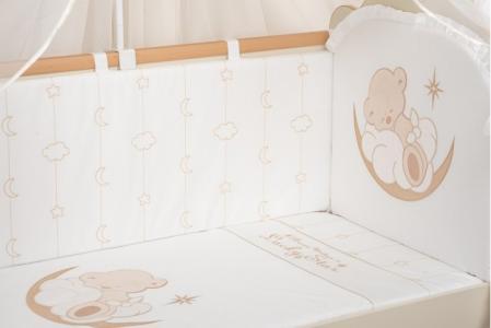 Бортик в кроватку  Счастливый мишка Селена (Сдобина)