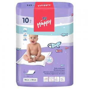 Пеленки  Baby Happy детские 60х60 см, 10 шт Bella