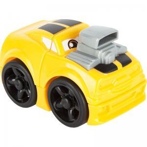 Машинка  Гоночная желто-серая, 3 дет. Mega Bloks