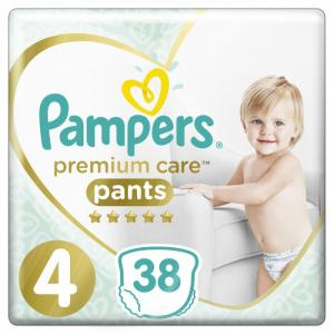 Подгузники-трусики Premium Care Pants р.4 (9-15 кг) 38 шт. Pampers