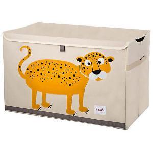 Сундук для хранения игрушек  Леопард 3 Sprouts. Цвет: желтый