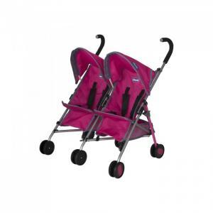 Коляска для куклы  трость двойни Echo Twin Stroller Chicco