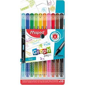 Набор капиллярных ручек  Graph Peps, 10 цветов Maped
