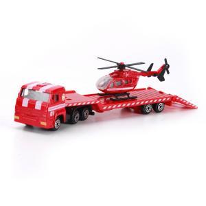 Набор машинок  Эвакуатор с пожарным вертолетом Технопарк
